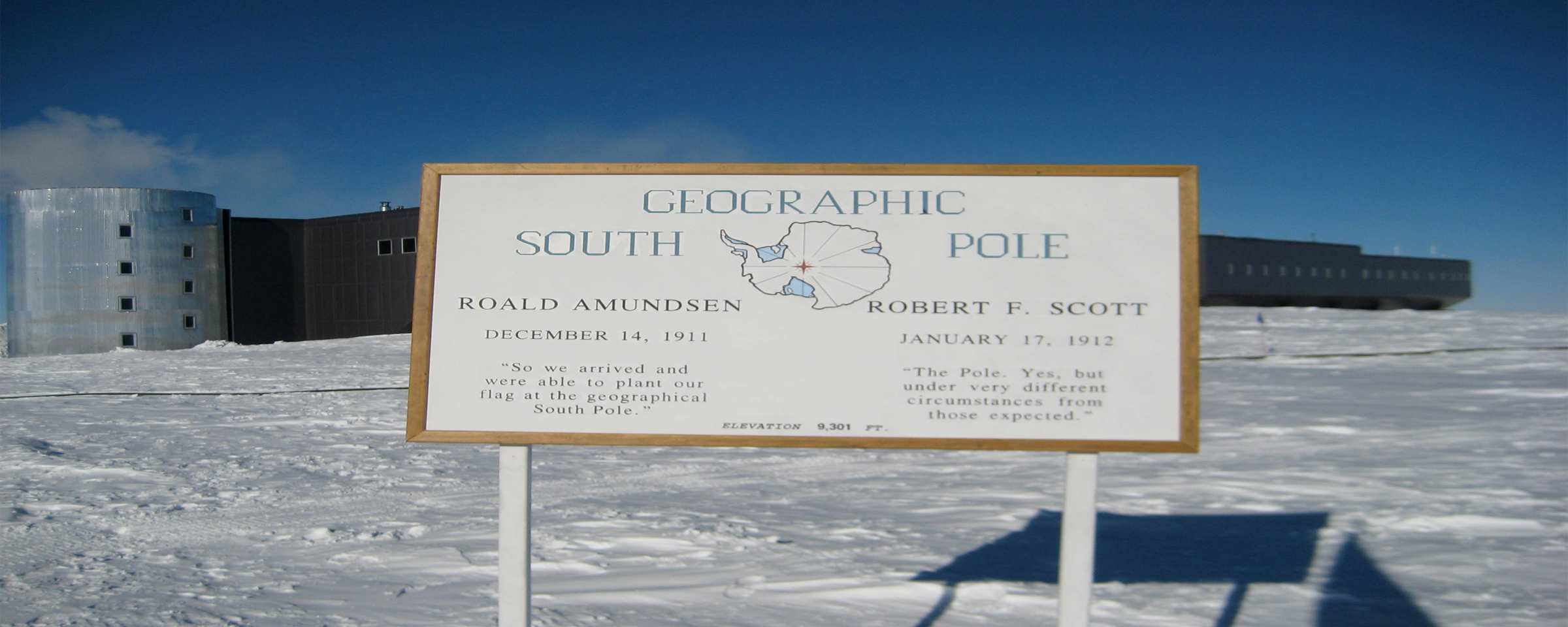 Geographic South Pole Sign (Photo by Katey Shirey 2010)