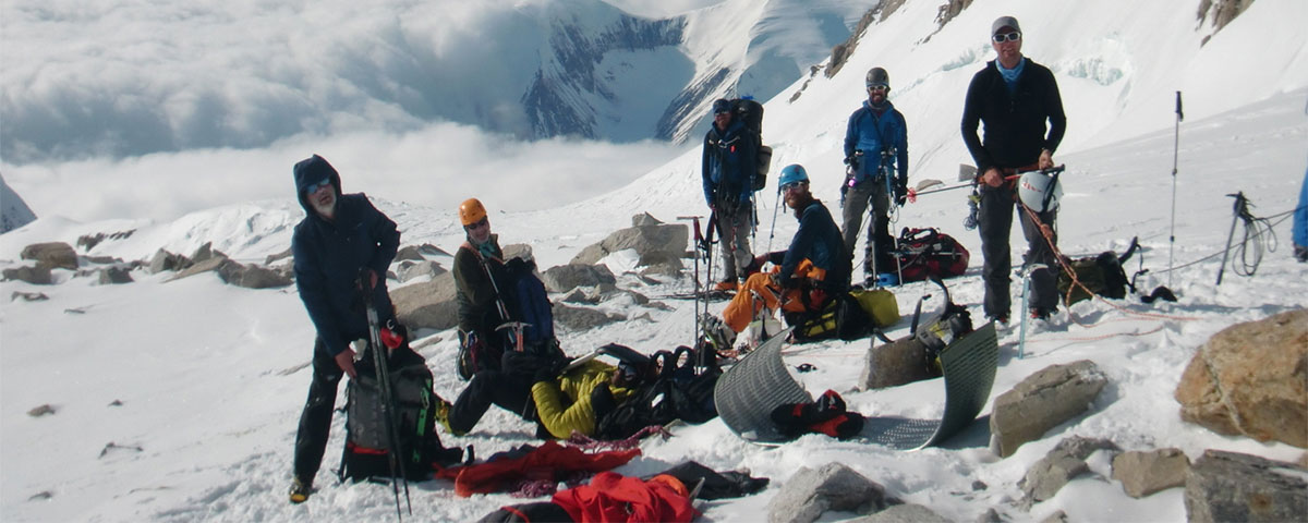 team meeting on Mt. McKinley