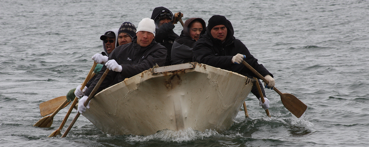 Umiaq race, Barrow, Alaska. Photo by Jim Miller, PolarTREC 2011, Courtesy of ARCUS.