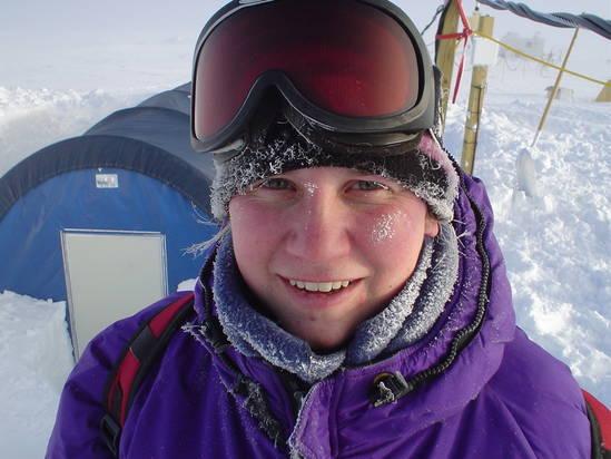 PolarTREC teacher Nikki Airaudi at Summit, Greenland