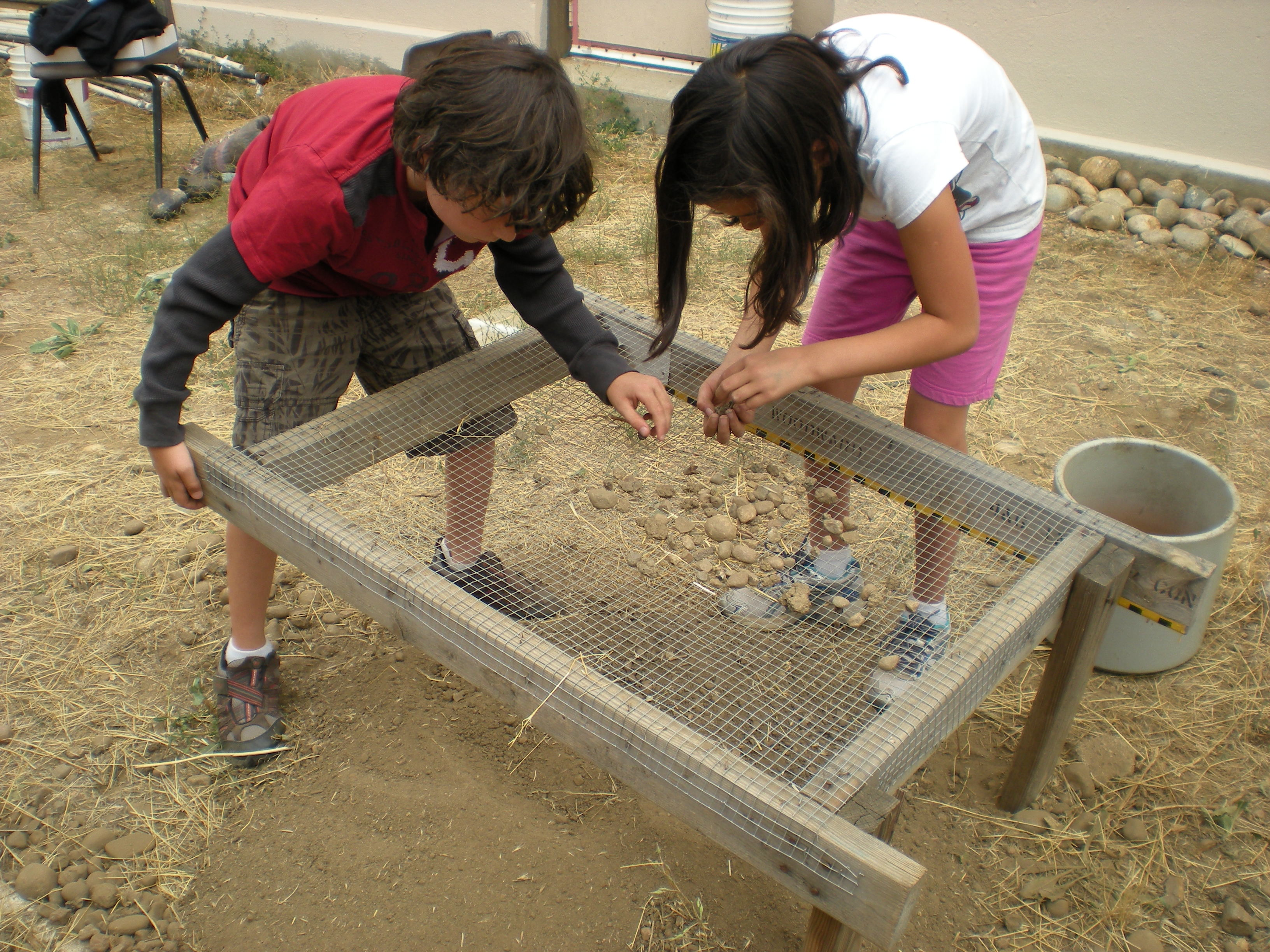 After his PolarTREC experience, Karl Horeis' third grade students use tools simi