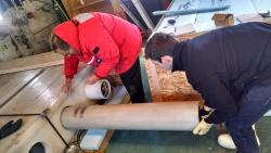2014 team members Paul and Sam removing neutron monitor tubes. Photo from UWRF Blog