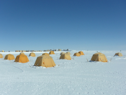 The tent city at Summit Station, Greenland
