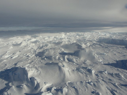 The Totten Glacier on the edge of the Southern Ocean, Antarctica