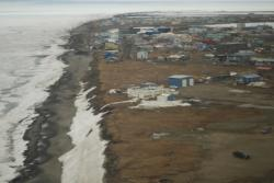 An aerial view of Barrow, Alaska. Photo by John Wood.