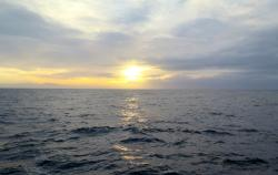 Sunrise over the Southern Ocean. Photo by Jillian Worssam.