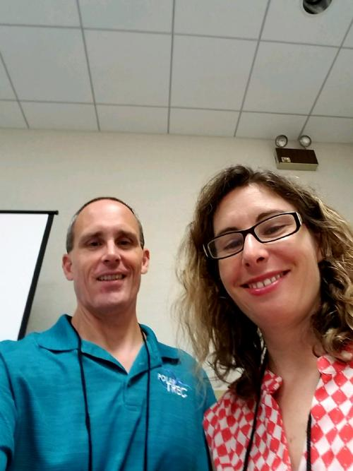 Adeena Teres and Steve Kirsche at the Florida Science Teachers Association Convention