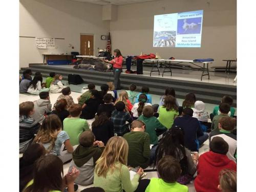 Students listening to the presentation. Photo courtesy of Hilliard Horizon Elementary School.