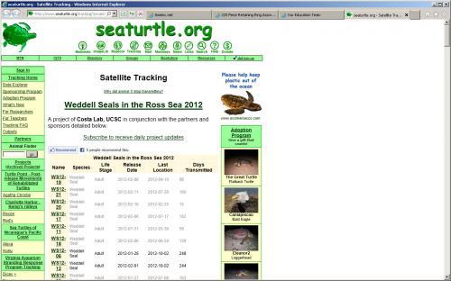 Tracking Weddell seals