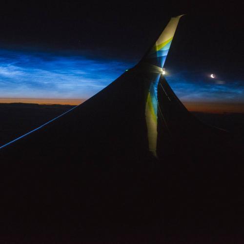 Sunrise over Canada.