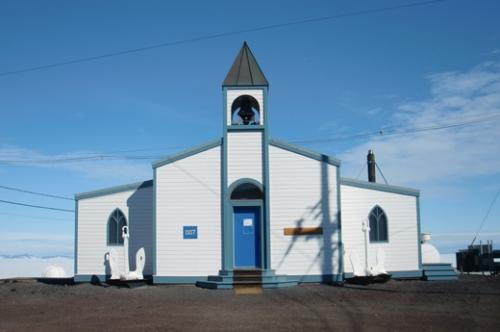 The Chapel of the Snows in McMurdo Station.