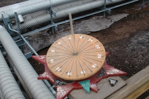 The McMurdo Station sundial.