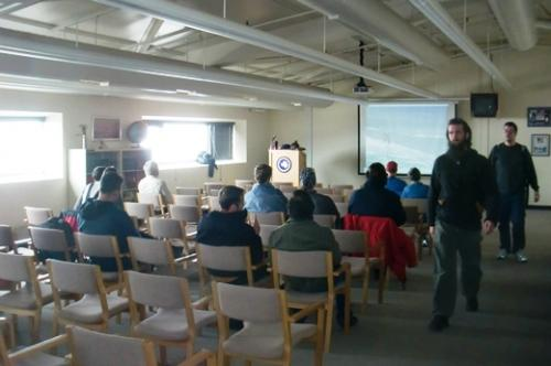 Outdoor Safety Lecture at McMurdo Station.
