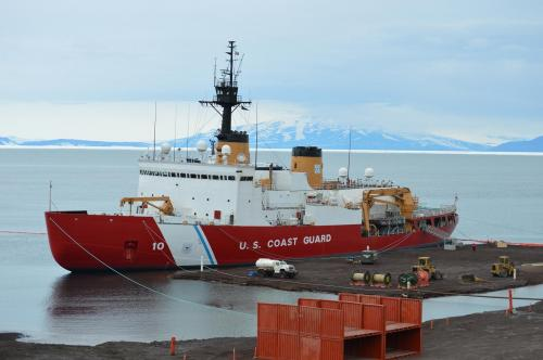 Ice breaker in McMurdo