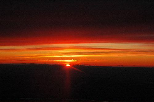 Sunset taken from plane window as I leave Fairbanks, AK