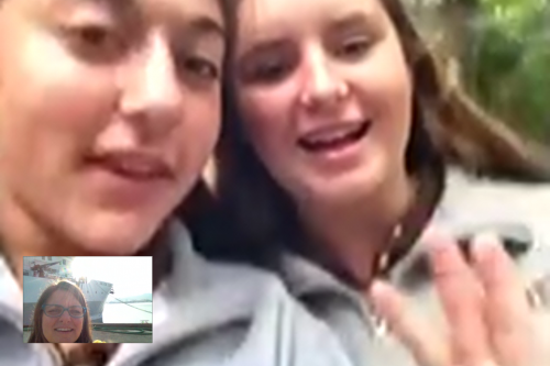 Facetime with students