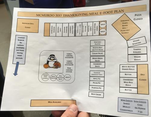 Thanksgiving meal floor plan