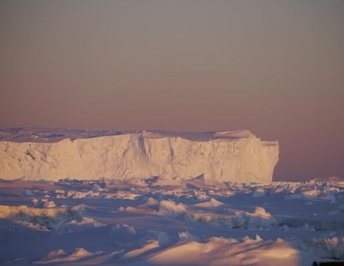 An iceberg off the coast of East Antarctica