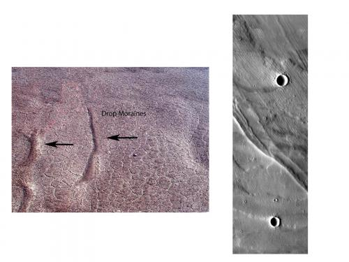 Image of Drop Moraines in Beacon Valley and on Mars.