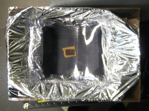 The solar oven I made.