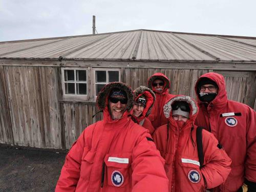Wormherders at Scott's Discovery Hut