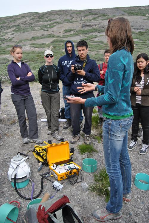 Scientist Julia Bradley-Cook explains how to measure carbon dioxide in the soil