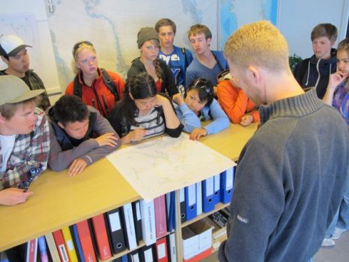 JSEP students at the Danish Meteorological Institute in Kangerlussuaq