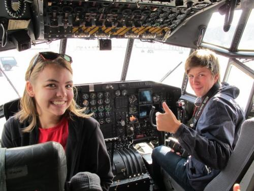 Jeannie and Emil decide who's flying this plane
