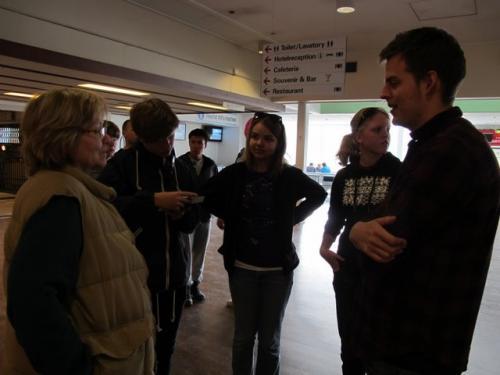 Saying goodbye to the Danish students