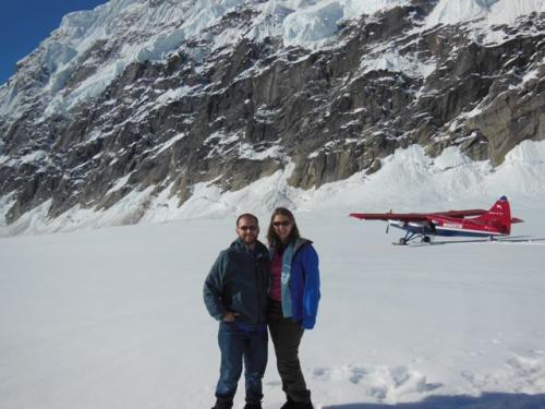 Lauren and Ethan on Ruth Glacier