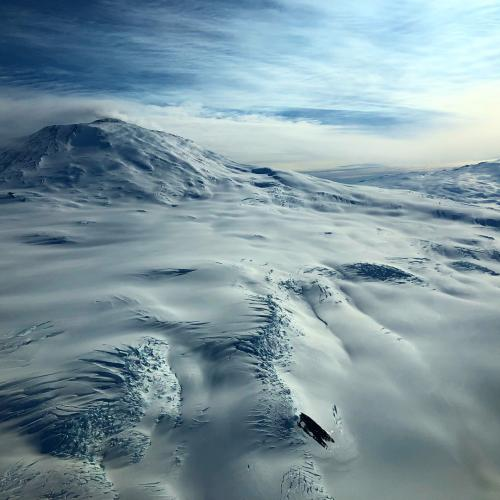 Mt. Erebus from sky