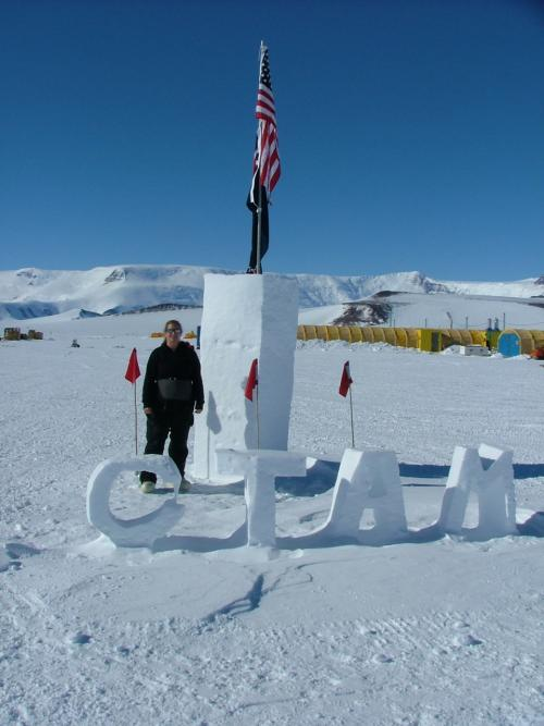 CTAM snow sculpture