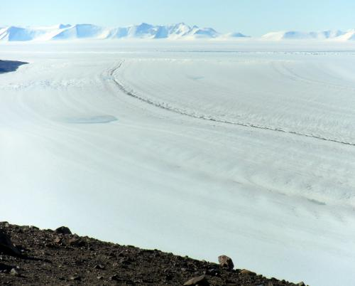 View down the Beardmore Glacier.