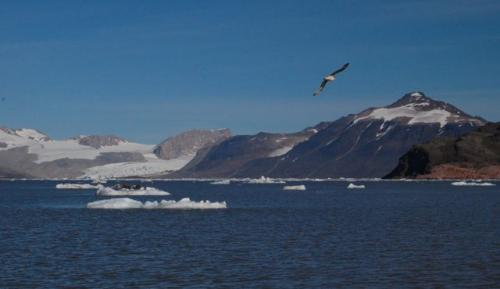 View across fjord