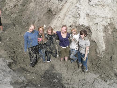 The participants of the Mud fight!