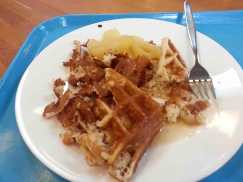 Botched waffle on Day 1