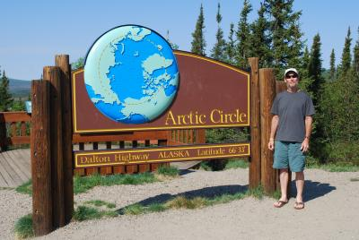 PolarTREC teacher John Wood at the Arctic Circle, Alaska