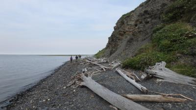 Along the shore of the Kolyma River