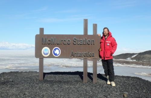 Dwyer and McMurdo Station sign