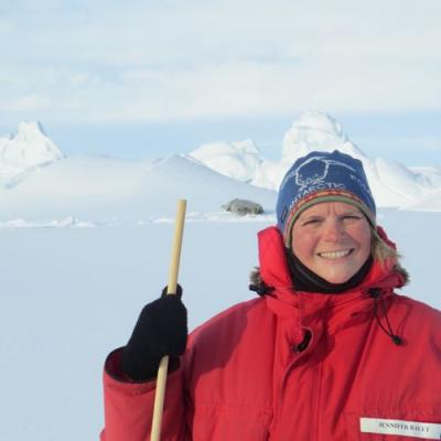 A very happy teacher, at home in Antarctica.