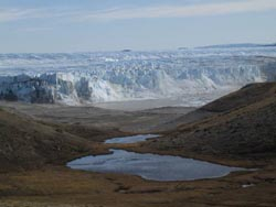 Glacier outside of Kangerlussuaq, Greenland