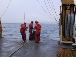 Scientists sampling in the Chukchi Sea