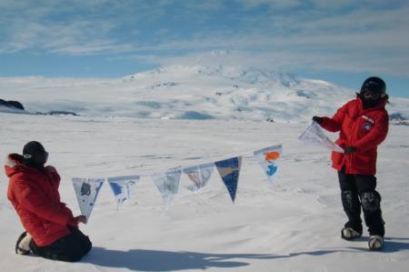 Mt. Erebus flags
