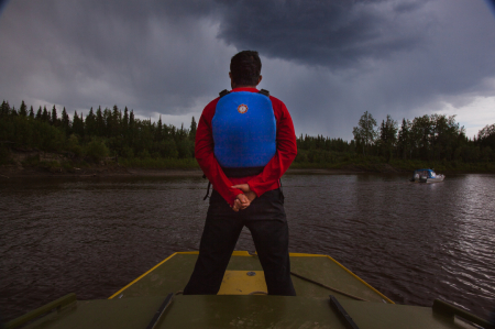 Watching a storm on the Yukon