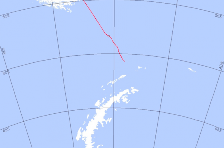 Current cruise map of the NBP