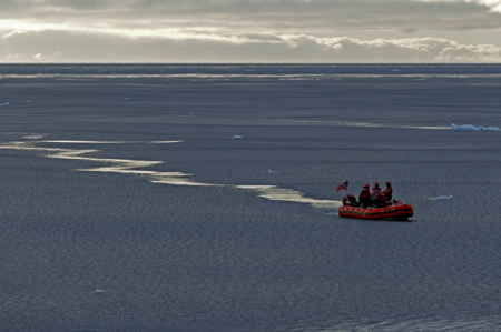 Small Boat Deployment in Pancake Ice