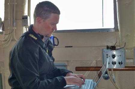 Bill Journaling on the Bridge of Healy