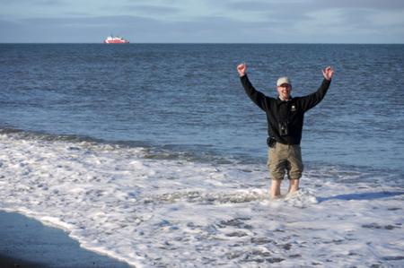 Bill Schmoker in Arctic Ocean