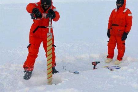 Drilling Core Sample @ North Pole