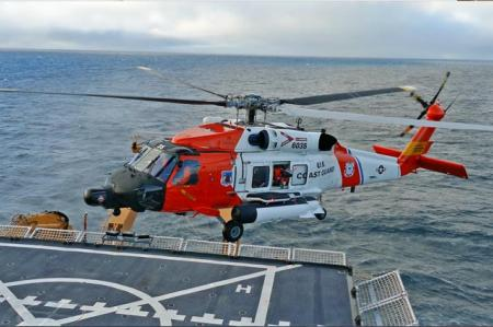 US Coast Guard Sikorsky MH-60T Jayhawk Landing on USCGC Healy